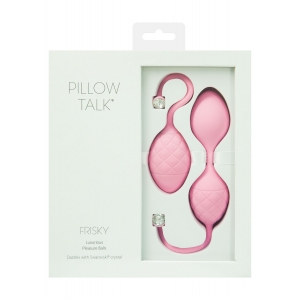 Frisky Ροζ ερωτικές μπάλες σιλικόνης -  Pillow Talk