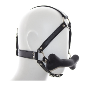 Hound Bone Gag Head Harness Black