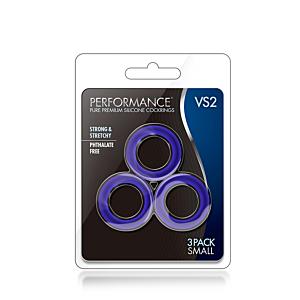 PERFORMANCE VS2 COCK RINGS SMALL INDIGO