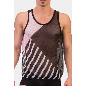 Tank Top Miro Black / Pink / White
