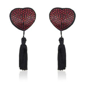 Heart shine nipples tassels (red)