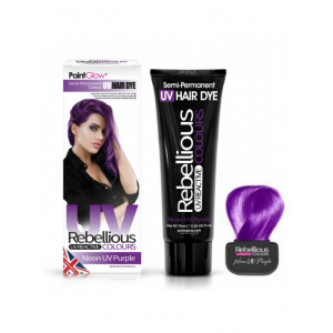 Semi-Permanent Hairdye, 70ml - Neon UV Purple