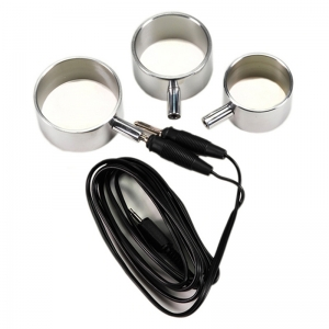 Electro Set Aluminum Cock Rings, 3 sizes Uni polar