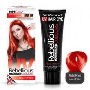 Semi-Permanent Hairdye, 70ml - Neon UV Red