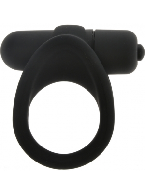 Big vibrating silicone bullet cock ring
