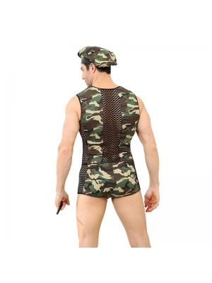 Military Instructor Camouflage Uniform 3 Pieces M / L