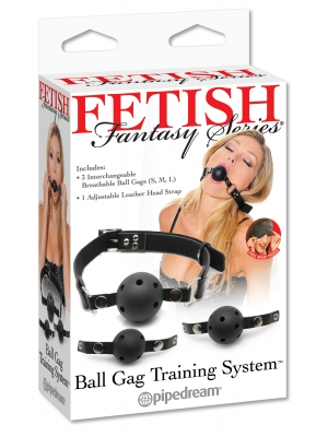 Fetish Fantasy Fetish Fantasy Ball Gag Training System Black OS