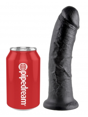 King Cock Cock Black 8in