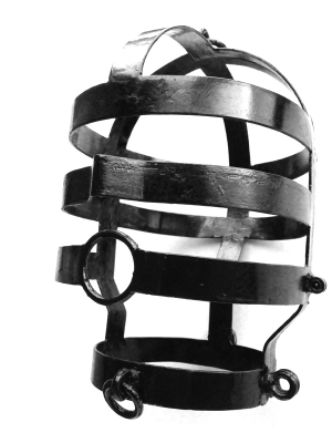 Head Cage, Large, Black Coated