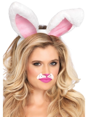 Plush bunny ears - White