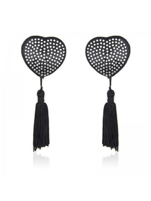 Heart shine nipples tassels (silver)
