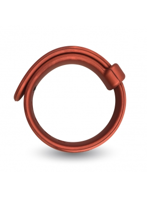 VELV'OR - ROOSTER JASON SIZE ADJUSTABLE FIRM STRAP DESIGN COCK RING RED