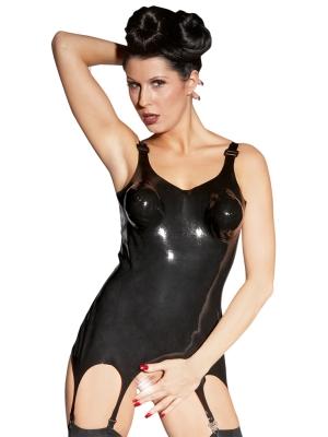 Sharon Sloane Latex Corselette Black Large