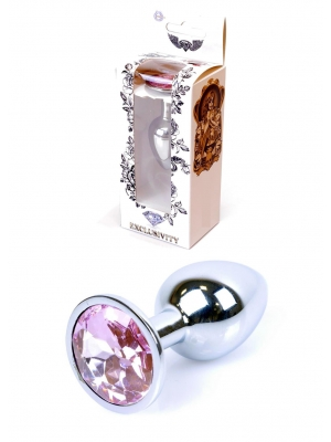 Jewellery Silver Butt Plug - Rose