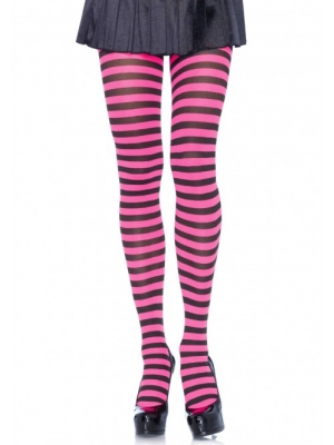 Nylon Stripe Tights