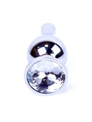 Plug-Jewellery Silver BUTT PLUG- Clear