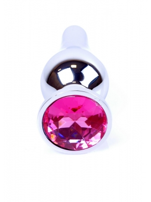 Plug-Jewellery Silver BUTT PLUG- Pink